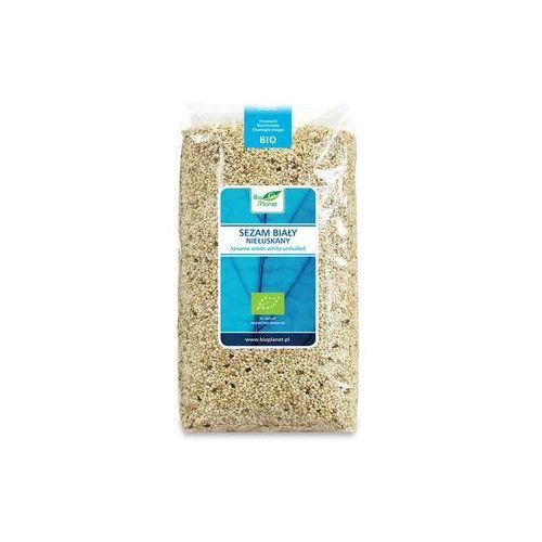 Sezam biały niełuskany bio 1 kg - bio planet, marki Bio planet - seria niebieska (ryże, kasze, ziarna)