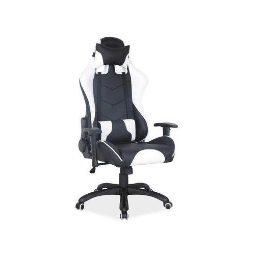Fotel gamingowy Signal Q-109 - fotel dla gracza, czarno-biały, DOSTAWA GRATIS