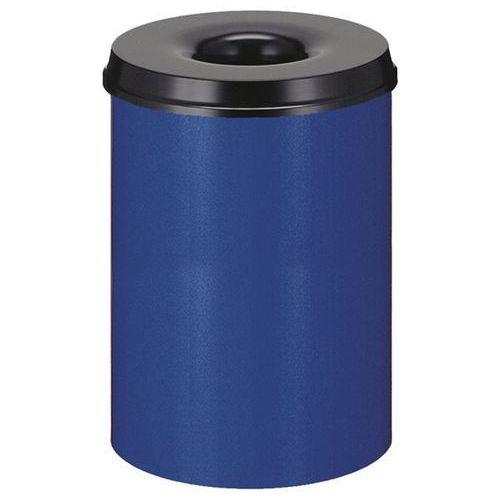 Kosz na papier, samogaszący, poj. 30 l, korpus niebieski / głowica gasząca czarn marki Vepa bins