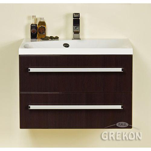 Szafka łazienkowa z umywalką 60/50/2/m fokus wenge połysk marki Gante