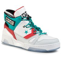 Sneakersy CONVERSE - Erx 260 Mid 165077C White/Turbo Green/Enamel Red
