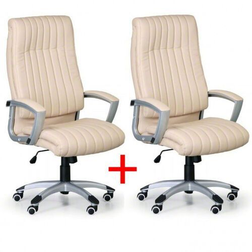 B2b partner Fotel biurowy lugano 1+1 gratis - kremowe