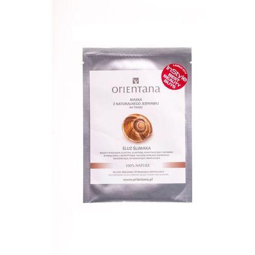 Orientana Maska z naturalnego jedwabiu śluz ślimaka - śluz ślimaka