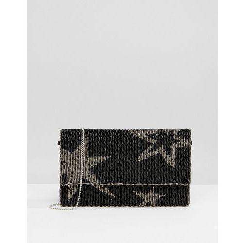 Park Lane Embellished Star Clutch Bag - Black