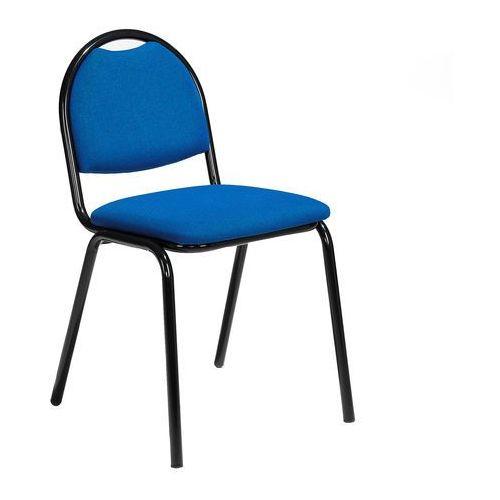 Krzesło do stołówki Warren tkanina niebieski czarny, 125491