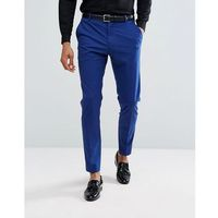 Selected Homme Slim Tuxedo Suit Trousers - Blue