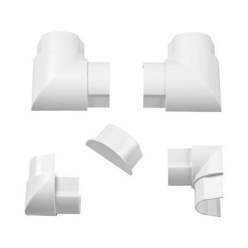 D-line Akcesoria do listwy połączeniowej 50 x 25 mm białe 6 szt. (5060125598733)