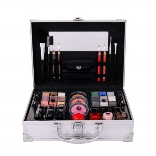2K All About Beauty Train Case zestaw Complete Makeup Palette dla kobiet