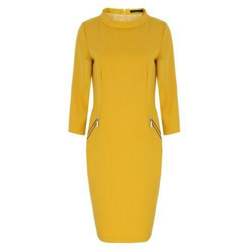 Sukienka 6544 (rozmiar: 42, kolor: żółty) marki Vito vergelis