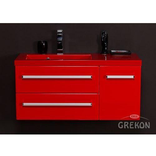 Czerwona szafka wisząca z umywalką 90/39/2lcz seria fokus cz marki Gante