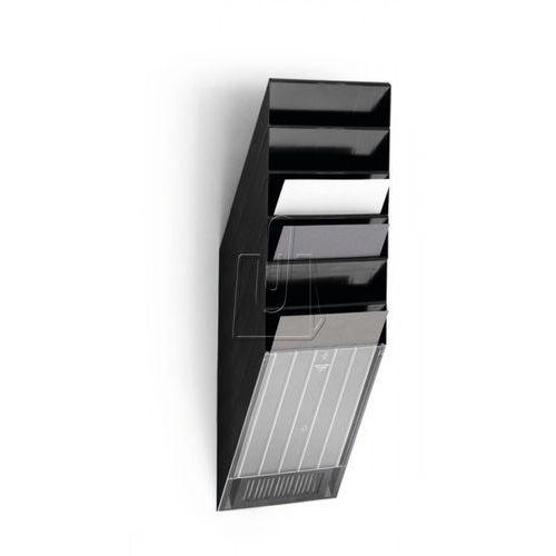 Zestaw sześciu pionowych pojemników Durable Flexiboxx A4 czarny 1709760060 (7318089760061)