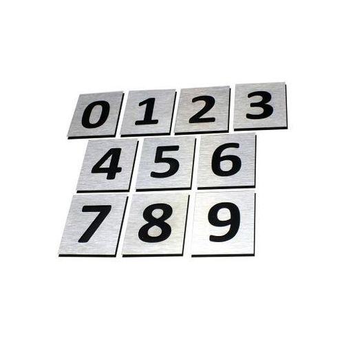 Numer, Numery Grawerowane na Drzwi z aluminium C1