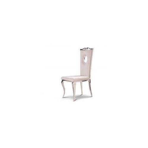 Krzesło glamour Luxury Milk - nowoczesne krzesło tapicerowane (5908273392660)