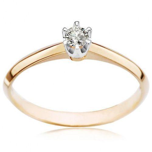 Złoty pierścionek PXD1717 - Diament, kolor żółty