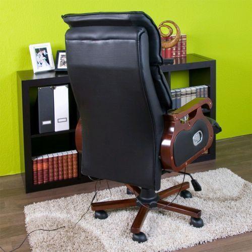 MASUJĄCY FOTEL BIUROWY GABINETOWY Z FUNKCJĄ MASAŻU - produkt z kategorii- Krzesła i fotele biurowe