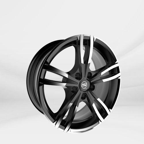 """Msw Felgi aluminiowe 17"""" 5x112 msw73 – czarny połysk"""