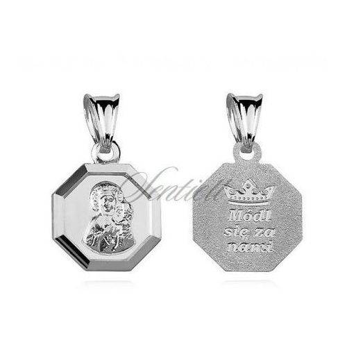 Srebrny medalik Matka Boska Częstochowska dwustronna - M010 - produkt z kategorii- Dewocjonalia