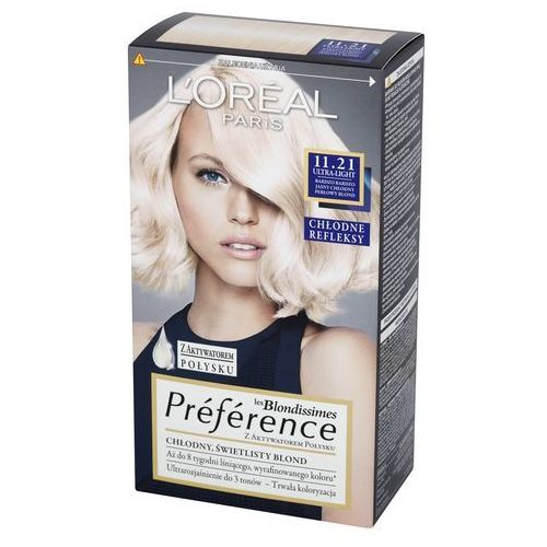 L'Oreal Paris, les Blondissimes Preference. Farba do włosów, 11.21 Ultra-Light - L'Oreal Paris, kolor blond