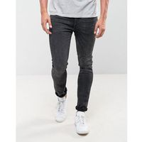 Levis 519 Extreme Skinny Fit Jeans Basement Wash - Black, kolor czarny