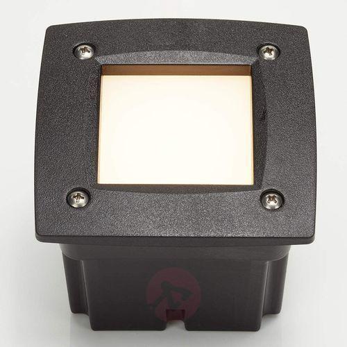 Leti 100 Square spot wpuszczany czarny ciepła biel (8031874017230)