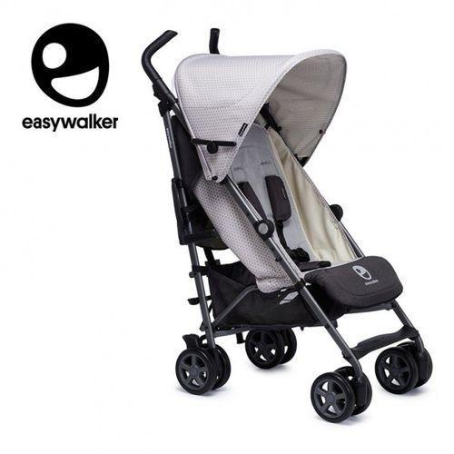 Easywalker Buggy+ Wózek spacerowy z osłonką przeciwdeszczową Silver Circle