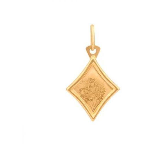 Rodium Złoty medalik - 20666 - pr.585