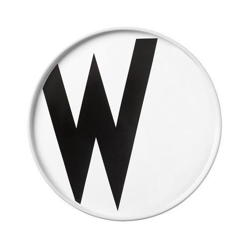 Talerz porcelanowy AJ litera W (5710498720599)