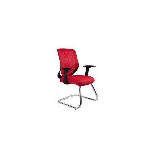 Krzesło biurowe Mobi Skid czerwone