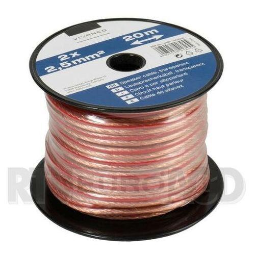 Kabel głośnikowy VIVANCO 2 x 2.5mm2 (46825) Transparentny (4008928468250)