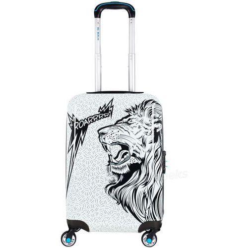 Bg berlin urbe mała walizka kabinowa na 4 kółkach 23/56 cm / roar - czarny ||biały