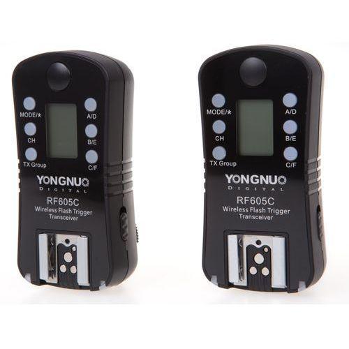 Yongnuo  rf-605c zestaw 2 nadajników/odbiorników (stopka canon) (6947110919140)
