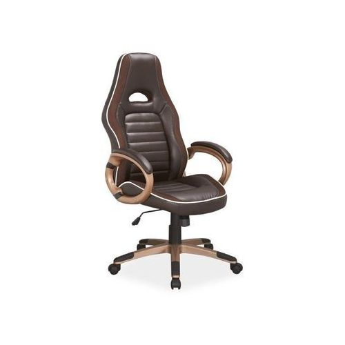 Fotel obrotowy, krzesło biurowe q-150 brown marki Signal