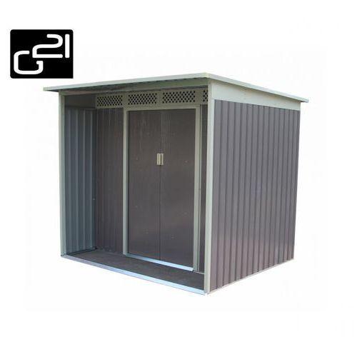 Domek ogrodowy G21 GBAH 418 - 203 x 172 cm, szary