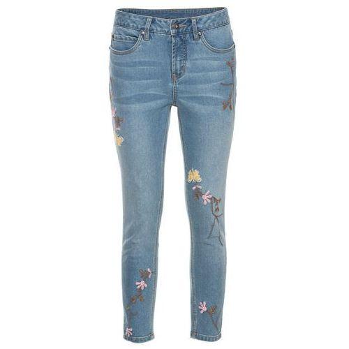 """Dżinsy z haftem bonprix niebieski """"stone"""", jeansy"""