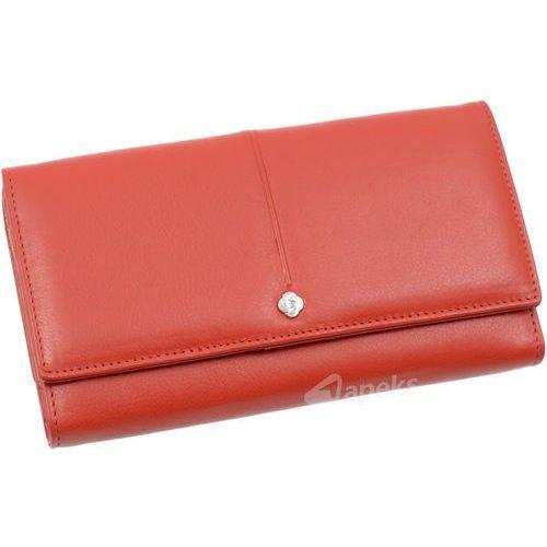 Samsonite Slim Light 144-232-04 portfel skórzany damski - czerwony (5901445483029)
