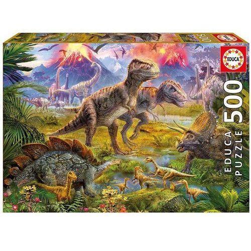 Puzzle 500 elementów, Spotkanie Dinozaurów - DARMOWA DOSTAWA OD 199 ZŁ!!!, 1_499980