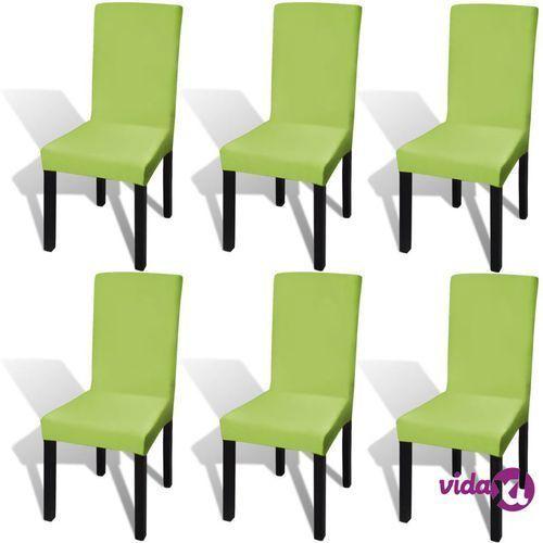 Vidaxl elastyczne pokrowce na krzesła w prostym stylu zielone 6 szt. (8718475978787)