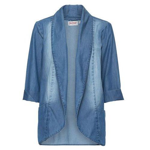 Lekka kurtka koszulowa, rękawy 3/4 średni niebieski marki Bonprix