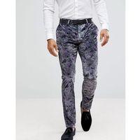 super skinny printed velvet trouser - purple marki Noose & monkey