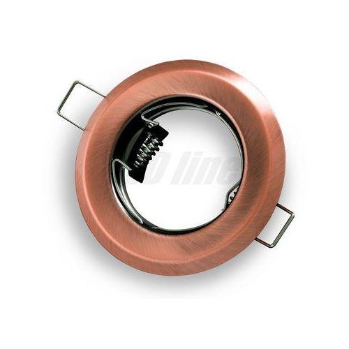 Led line Oprawa halogenowa sufitowa okrągła stała, tłoczona - antyk (5901583242687)