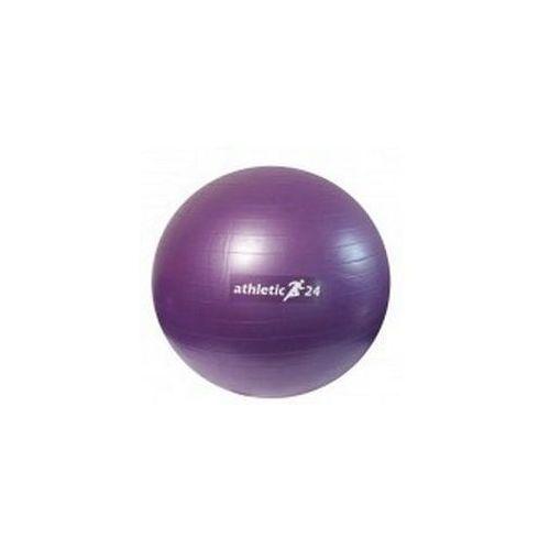 antiburst 55 fioletowa - piłka fitness - fioletowy marki Athletic24