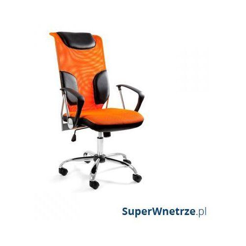 Krzesło obrotowe UNIQUE Thunder pomarańczowe