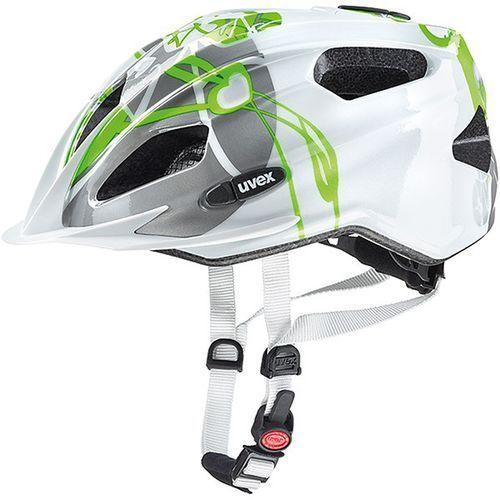 Uvex Dziecięcy kask rowerowy quatro junior 50-55cm zielony / biały