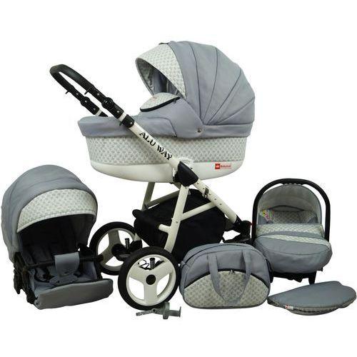 Sun baby wózek wielofunkcyjny alu way 3w1, silver (2009957740036)