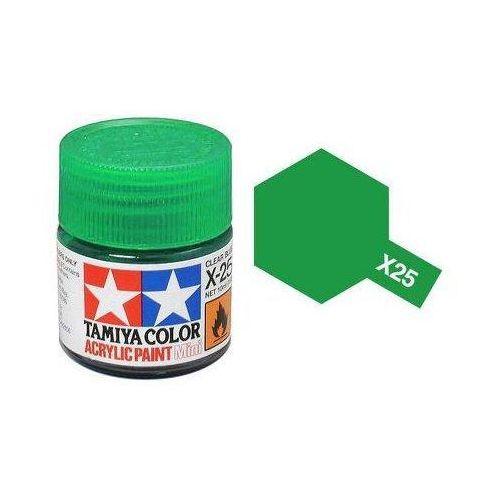 Farba akrylowa - X25 Clear Green gloss / 10ml Tamiya 81525