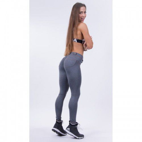 NEBBIA Spodnie BUBBLE BUTT PUSH UP N253 grey, N253