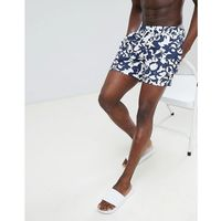 Polo Ralph Lauren Traveller Underwater Print Swim Shorts Player Logo in Navy/White - Navy