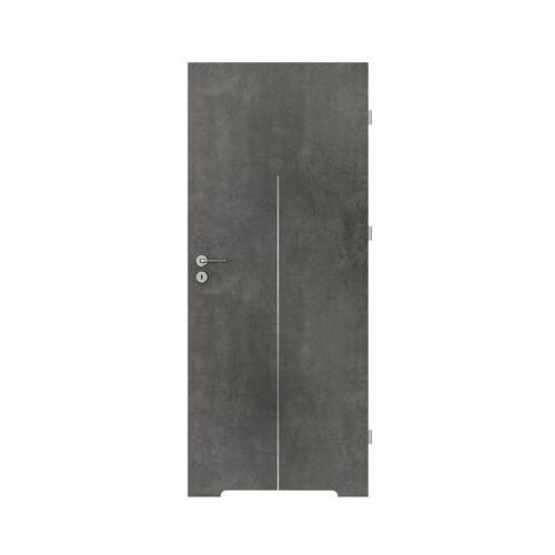 Skrzydło drzwiowe LINE Beton ciemny 70 Prawe PORTA