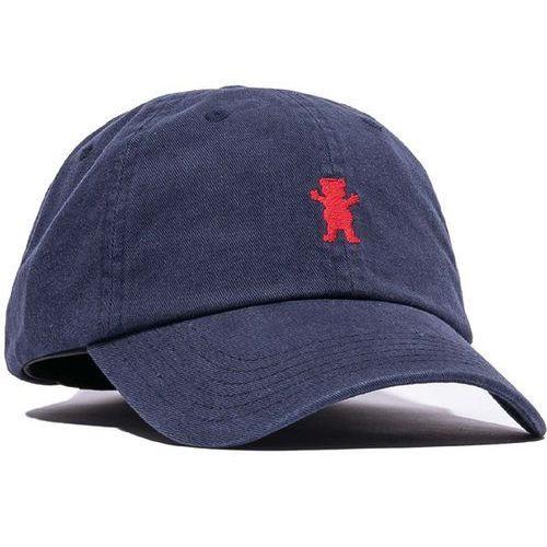 czapka z daszkiem GRIZZLY - Og Dad Bear Logo Hat Navy/Red (NVRD) rozmiar: OS