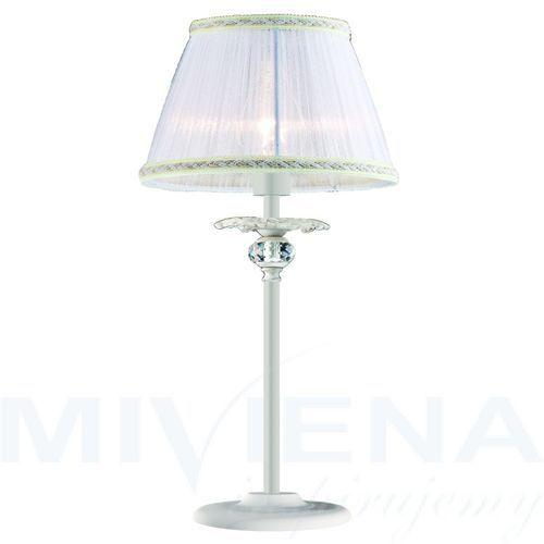 Arthur lampa stołowa 1 bialy kryształ abażur, 4102300